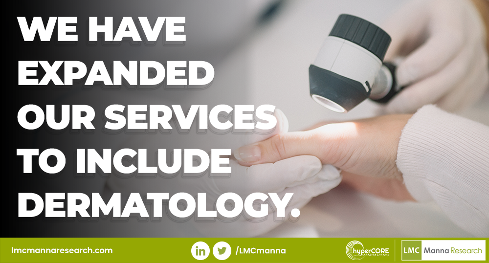 LMC Manna Research branches into Dermatology.